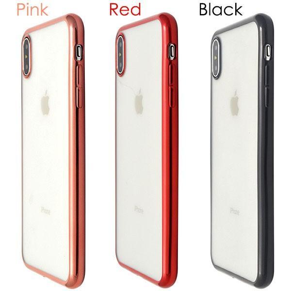 iphone XS Max ケース iphone xs ケース アイフォンxs ケース メタリックバンパーソフトクリアケース 透明 ケース 耐衝撃 ソフトケース カバー hypnos 04
