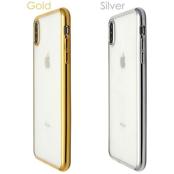 iphone XS Max ケース iphone xs ケース アイフォンxs ケース メタリックバンパーソフトクリアケース 透明 ケース 耐衝撃 ソフトケース カバー hypnos 05