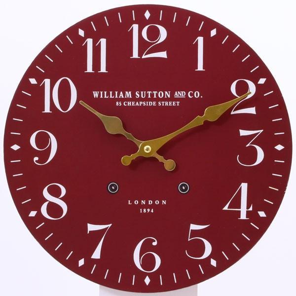 掛け時計 ウォールクロック 掛け時計 時計 クロック レトロ レッド おしゃれな インテリア 壁掛け時計|hypnos|02
