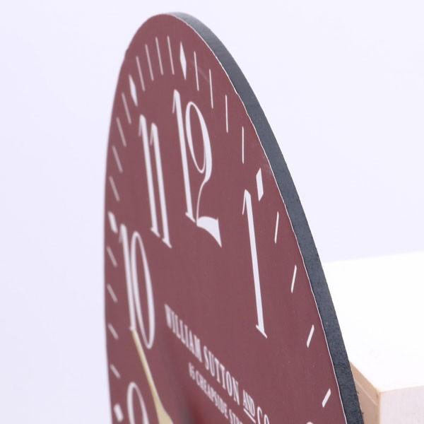 掛け時計 ウォールクロック 掛け時計 時計 クロック レトロ レッド おしゃれな インテリア 壁掛け時計|hypnos|03