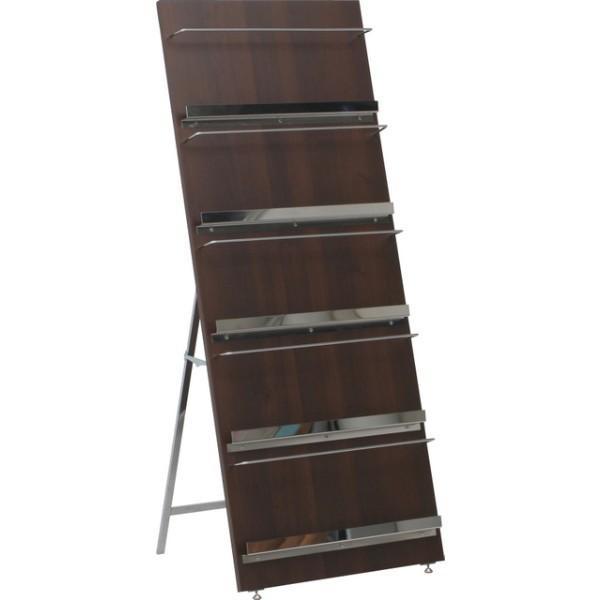 ウッド マガジンラック デコール 5段 ブックスタンド 本立て ラック 棚 収納 本棚 カタログ 雑誌|hypnos