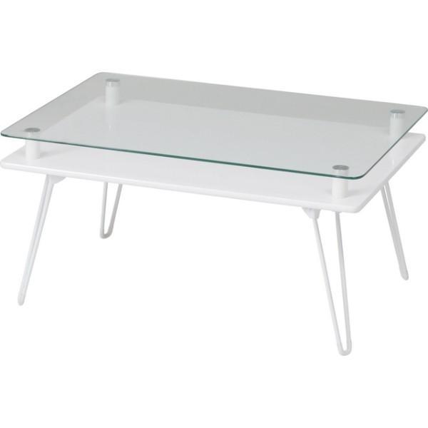 ディスプレイテーブル ローテーブル ガラステーブル 折りたたみ 幅70cm|hypnos