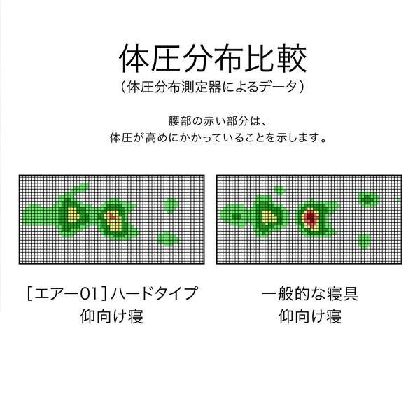 エアー01 マットレス/HARD シングル AIR01 エアー ファースト air AIR コンディショニングマットレス 敷き布団 東京西川 西川 120N|hypnos|04