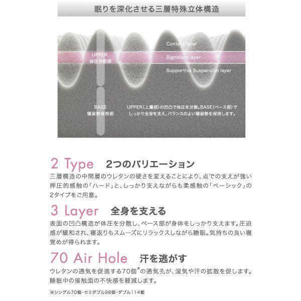 エアー01 マットレス BASIC セミダブル AIR01 エアー ファースト air AIR コンディショニングマットレス 敷き布団 東京西川 西川 100N|hypnos|05