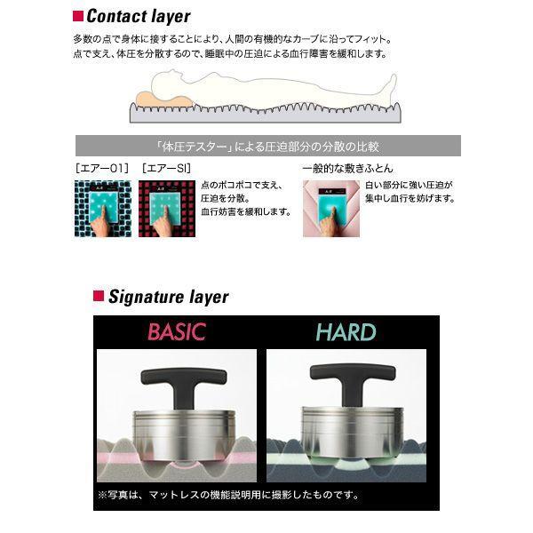エアー01 マットレス BASIC セミダブル AIR01 エアー ファースト air AIR コンディショニングマットレス 敷き布団 東京西川 西川 100N|hypnos|06