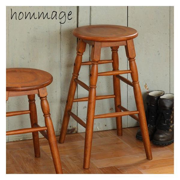座面高さ60cm天然木製スツールハイタイプブラウン椅子イス低いおしゃれ丸型円形飾り台モダン茶色ウッド/hommage市場家具 i-11myroom