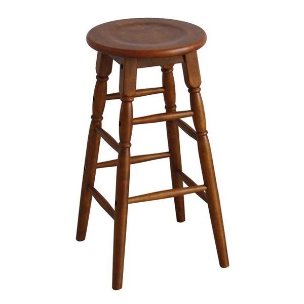 座面高さ60cm天然木製スツールハイタイプブラウン椅子イス低いおしゃれ丸型円形飾り台モダン茶色ウッド/hommage市場家具 i-11myroom 02