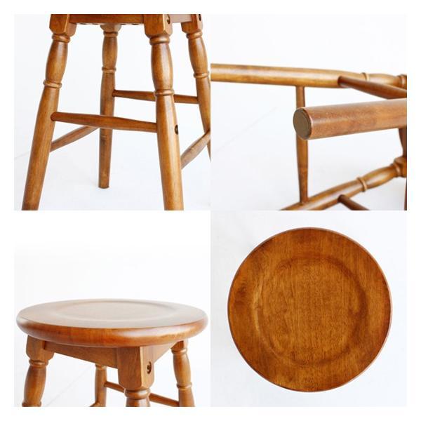 座面高さ60cm天然木製スツールハイタイプブラウン椅子イス低いおしゃれ丸型円形飾り台モダン茶色ウッド/hommage市場家具 i-11myroom 04