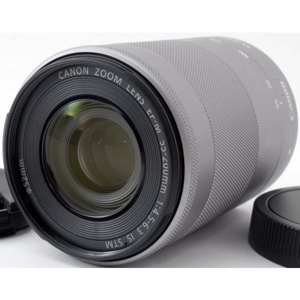 CANON おすすめ 望遠レンズ 美品 保証 キヤノン EF-M 55-200mm IS STM シルバー