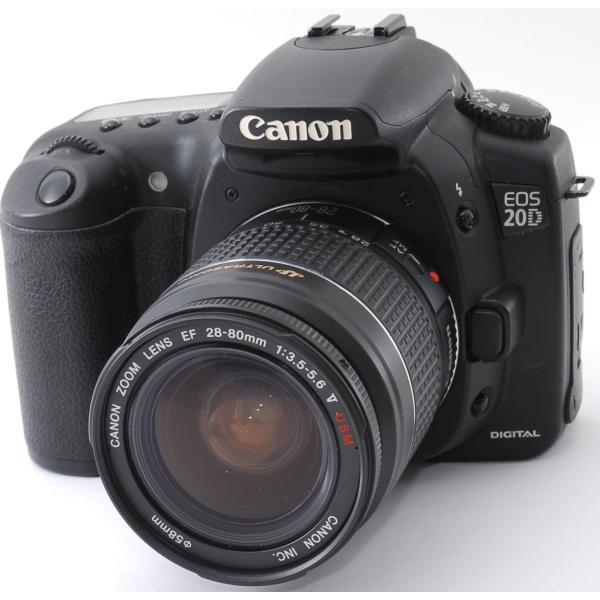 デジタル一眼 中古 初心者 スマホに送れる CANON キヤノン EOS 20D レンズキット