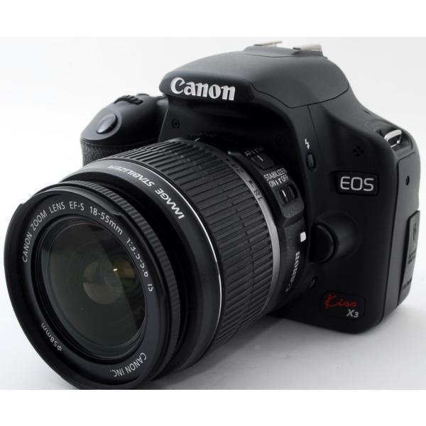 デジタル一眼 中古 スマホに送れる Canon キヤノン EOS Kiss X3 レンズキット