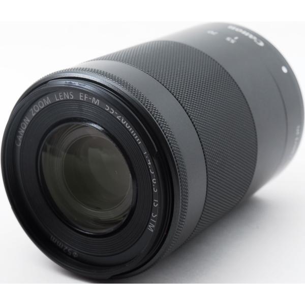 CANON キャノン  美品 望遠レンズ CANON EF-M 55-200mm F4.5-6.3 IS STM ブラック