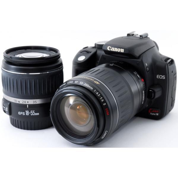 デジタル一眼 中古 Wi-Fi Canon キヤノン EOS Kiss Digital N ダブルズーム