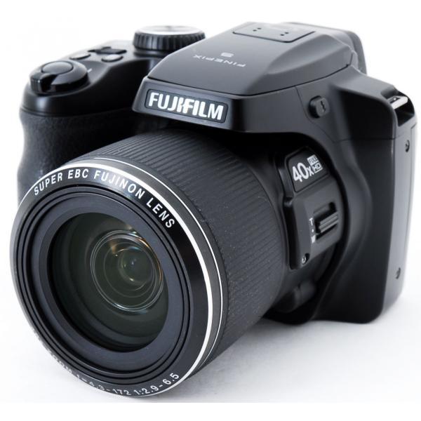 デジタルカメラ 中古 スマホに送れる FUJIFILM 富士フイルム FinePix S8200 ブラック|i-camera-shop