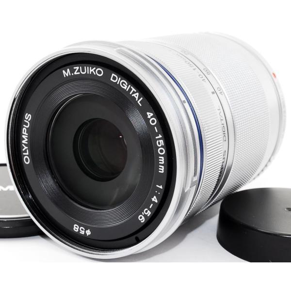 望遠レンズ おすすめ 美品 OLYMPUS オリンパス M.ZUIKO DIGITAL 40-150mm R シルバー