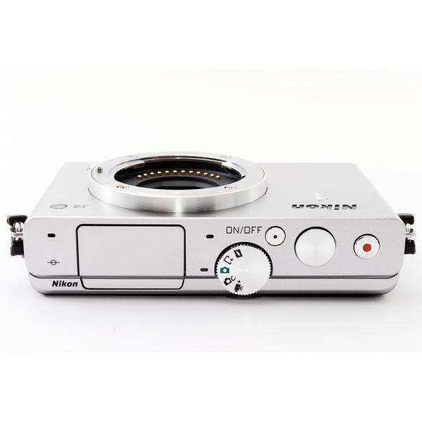 ミラーレス  Wi-Fi対応 Nikon ニコン 1 J4 標準パワーズームレンズキット シルバー