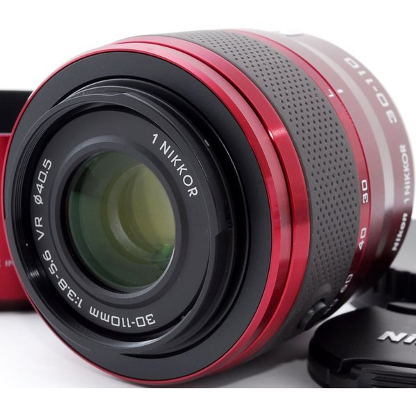 望遠レンズ 中古 ミラーレス用 Nikon ニコン 1 NIKKOR VR 30-110mm レッド
