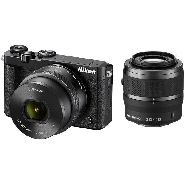 ニコン Nikon ミラーレス 中古 Wi-Fi搭載 Nikon 1 J5 ダブルズームレンズキット ブラック|i-camera-shop