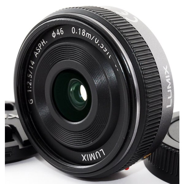 単焦点レンズ 中古 Panasonic パナソニック LUMIX G 14mm/F2.5 ASPH. H-H014