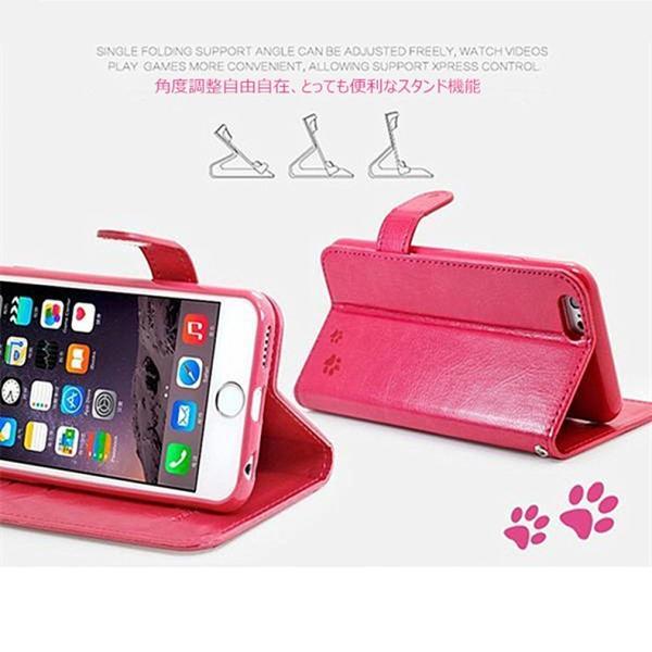 【在庫一掃セール】 iPhone6s ケース 手帳型 カバー レザー 横開き スマホケース iPhone6 iPhone6Plus iPhone6sPlus ブランド ねこ 猫 かわいい おしゃれ|i-concept|02