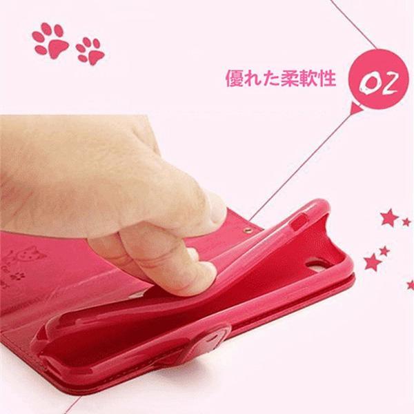 【在庫一掃セール】 iPhone6s ケース 手帳型 カバー レザー 横開き スマホケース iPhone6 iPhone6Plus iPhone6sPlus ブランド ねこ 猫 かわいい おしゃれ|i-concept|04