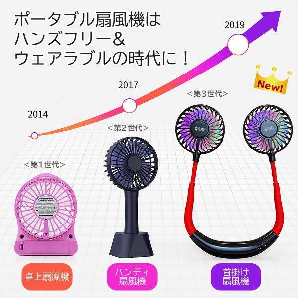 【在庫一掃セール】扇風機 ハンディ 首掛け 2019最新版 アロマ LED 静音 軽い ネックバンド型 ファン 携帯扇風機 首かけ扇風機 ハンディ扇風機 送料無料|i-concept|05