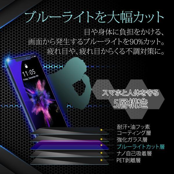 iPhone 保護フィルム 強化ガラス ブルーライトカット iPhoneXR iPhoneXS Max iPhone8 7 Plus 各種対応 硬度9H アイフォン|i-concept|04