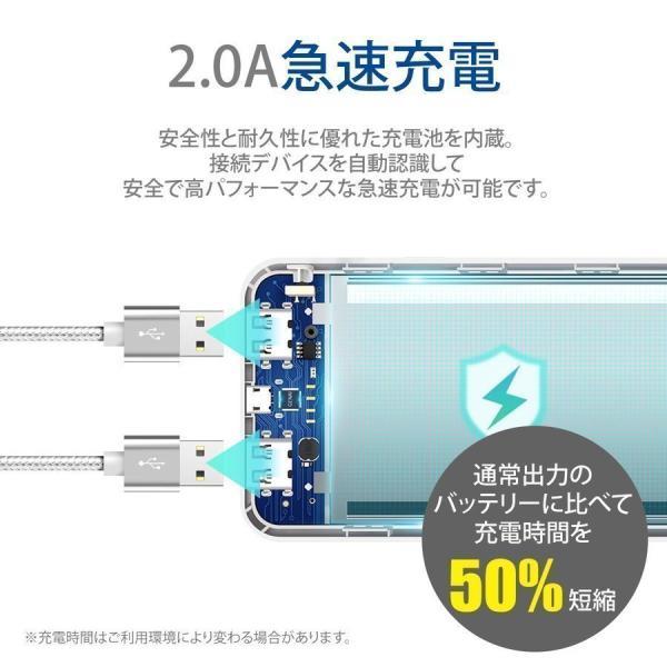モバイルバッテリー iPhone 大容量 軽量 10000mAh 小型 急速充電 PSE認証済 2台同時 充電 携帯充電器 iPad Android 送料無料|i-concept|11