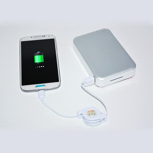 Android スマホ 充電器 Micro-B USB 情報伝達ケーブル リール式 高速充電 自動巻き取りコード アンドロイド|i-concept|06