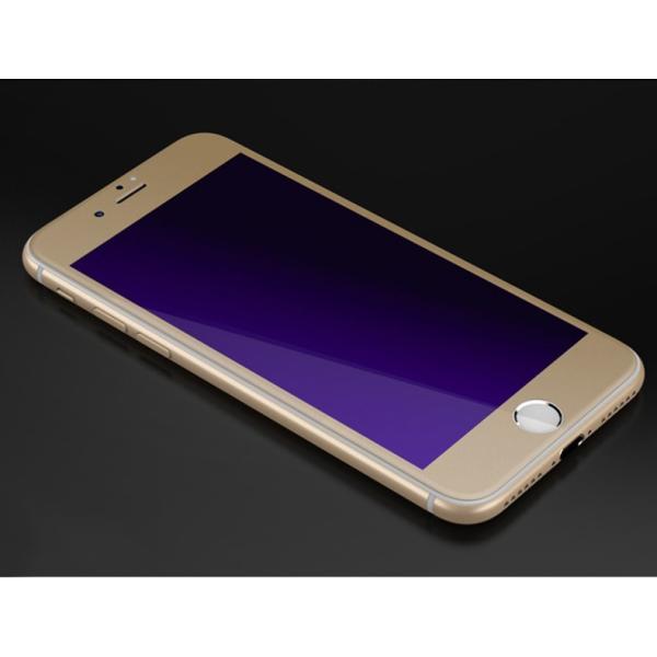 iPhone 強化ガラスフィルム 保護フィルム ブルーライトカット iPhone8 iPhone7 iPhone6 Plus 対応 フィルム 全面保護 PET3Dソフトエッジ i-concept 15