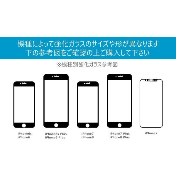 iPhone 強化ガラスフィルム 保護フィルム ブルーライトカット iPhone8 iPhone7 iPhone6 Plus 対応 フィルム 全面保護 PET3Dソフトエッジ i-concept 16
