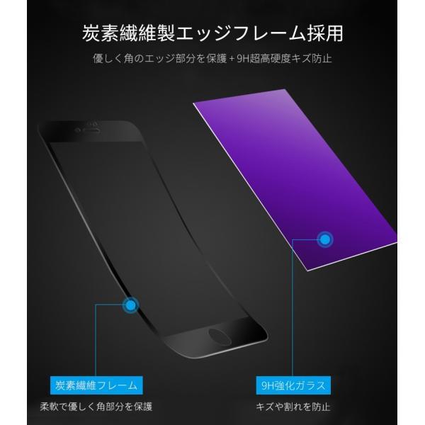 iPhone 強化ガラスフィルム 保護フィルム ブルーライトカット iPhone8 iPhone7 iPhone6 Plus 対応 フィルム 全面保護 PET3Dソフトエッジ i-concept 05