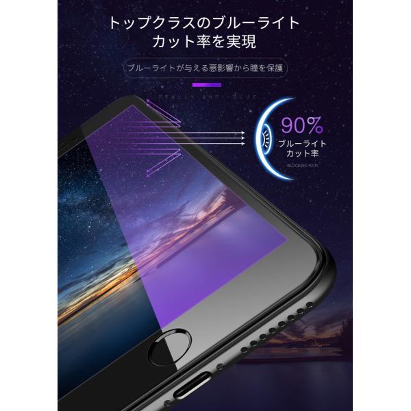 iPhone 強化ガラスフィルム 保護フィルム ブルーライトカット iPhone8 iPhone7 iPhone6 Plus 対応 フィルム 全面保護 PET3Dソフトエッジ i-concept 07