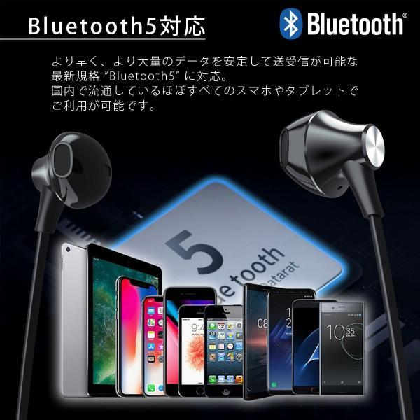 ワイヤレスイヤホン Bluetooth イヤホン bluetooth5.0 イヤホン ブルートゥース イヤホン iPhone11 iPhone Android 対応 アイフォン 送料無料|i-concept|15