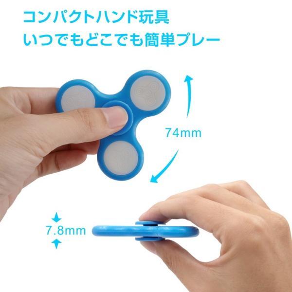 ハンドスピナー Hand spinner 光る LED ICチップ搭載 18パターンの図柄に変化 軽量 知育玩具 ストレス解消 子供 おもちゃ 特価セール|i-concept|03
