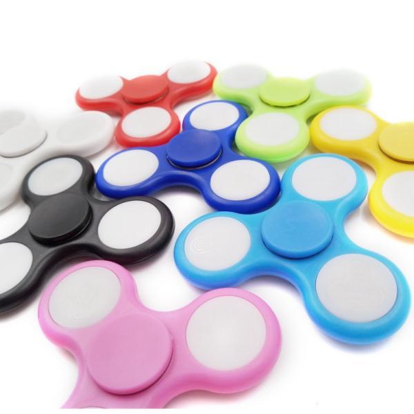 ハンドスピナー Hand spinner 光る LED ICチップ搭載 18パターンの図柄に変化 軽量 知育玩具 ストレス解消 子供 おもちゃ 特価セール|i-concept|06