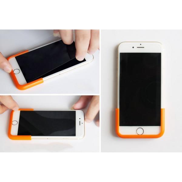 iPhone 保護フィルム 強化ガラスフィルム 簡単貼り付け ピッタリフレーム iPhone6s iPhone7 iPhoneSE スマホ|i-concept|05