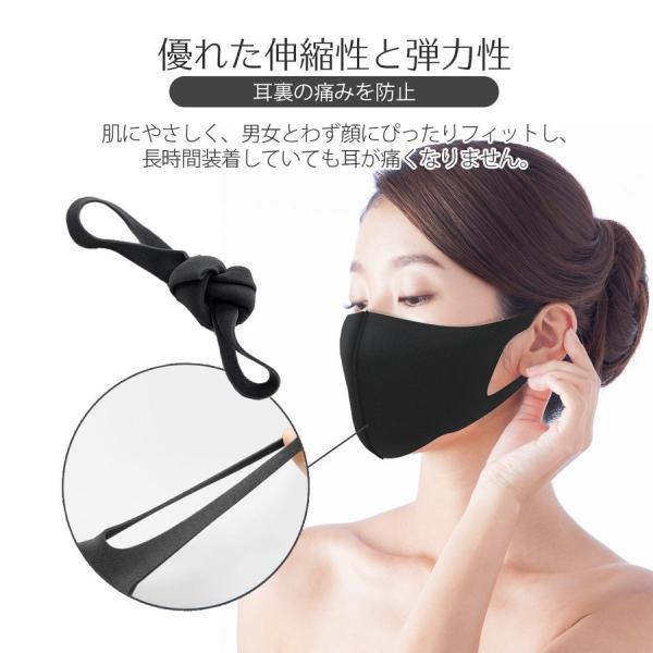 還元セール マスク 5枚セット 蒸れない 夏用 涼しめ ウレタンマスク 在庫あり 立体 大人用 子供用 3D 洗える 花粉対策 風邪 ブラック|i-concept|06