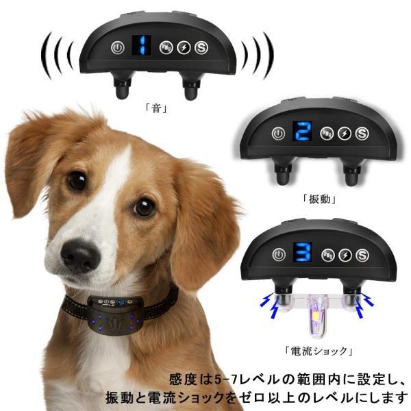 犬無駄吠え防止首輪 しつけ用首輪 充電式 吠え防止 むだぼえ矯正 犬トレーニング 静電ショック 振動 ビープ音を搭載 感度7段階調節 小型 中型 大型 i-labo 05