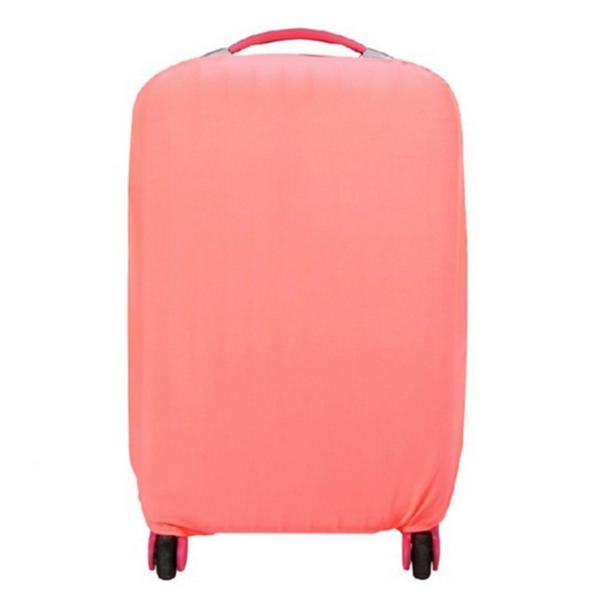 スーツケースカバー 伸縮素材 【DauStage】 キャリーケース バッグ カバー 選べる 8色 3サイズ ナイロン製リュック付き (07,ピンク S|i-labo