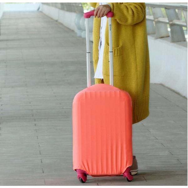 スーツケースカバー 伸縮素材 【DauStage】 キャリーケース バッグ カバー 選べる 8色 3サイズ ナイロン製リュック付き (13,パープル  i-labo 06