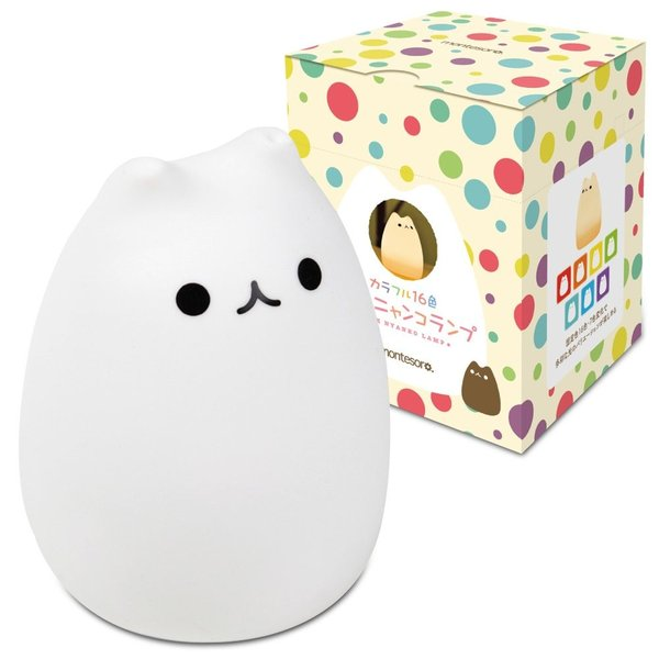 montesoro 萌え猫ランプ ベッドサイドランプ リモコン付き USB充電 カラフル16色変化 可愛いランプ台付き LJC-200 (萌え猫)
