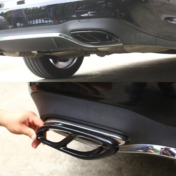 車 エキゾーストテールパイプカバートリム フレーム 排気管の改造 適合 メルセデスベンツにフィット A B C E GLC GLE GLS CLA C|i-labo|03