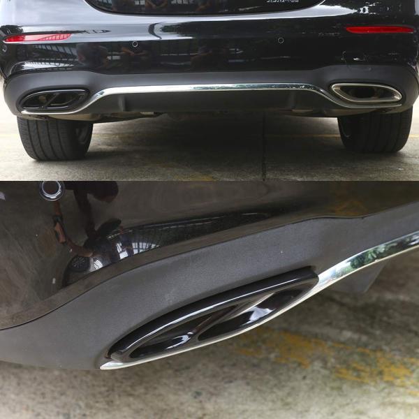 車 エキゾーストテールパイプカバートリム フレーム 排気管の改造 適合 メルセデスベンツにフィット A B C E GLC GLE GLS CLA C|i-labo|04