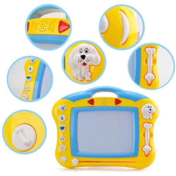 お絵かきボード知育玩具シリーズせんせいおえかき音と光を楽しめる幼児おもちゃ磁石マグネットスタンプ付属