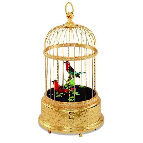 REUGE リュージュオルゴール シンギングバード 鳥かご(金メッキ)