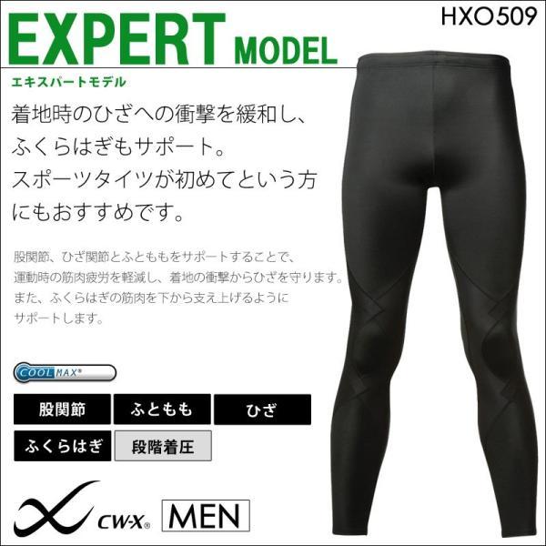 タイツ スポーツ CW-X ワコール メンズ HXO509 スポーツタイツ エキスパートモデル(ロング丈) 送料無料|i-may