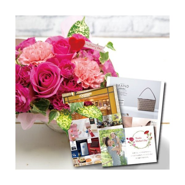 花 と カタログ ギフトセット バラ 豪華 ピンク アレンジ B-BO 還暦 古希 退職祝い 母 お祝い 誕生日 プレゼント 結婚祝い 退院 60代 70代 女性 5000円 (HM)