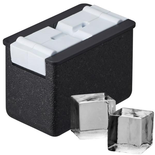 透明氷キューブ型|DCI-B1CB|キレイで透明な45mm正方形氷を2個つくる製氷皿|ドウシシャ製氷器
