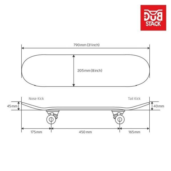 【あすつく】DUB STACK スケートボード DSB-7 | 31インチ コンプリートセット ABEC5ベアリング採用 | メープル素材 | ダブスタック|i-shop-sakura|02